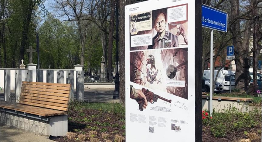 """Powiększ obraz: Wystawa """"Chleb wolnościowy"""", ul. Lipowa"""