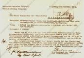 Pokaż powiększenie powyżej: Meldunek żandarmerii niemieckiej w sprawie aresztowanych, 10 marca 1943