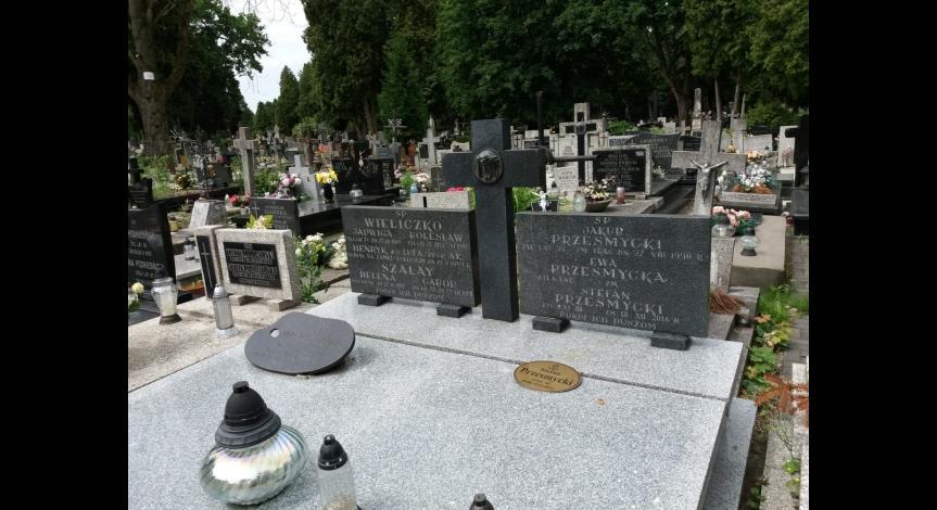 Powiększ obraz: Grób Stefana Przesmyckiego na cmentarzu rzymsko-katolickim w Lublinie przy ul. Lipowej