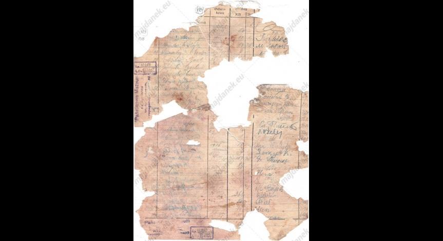 Powiększ obraz: Strona zbiorczego wykazu wpłat z 28 marca 1943 r.