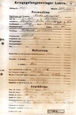 Powiększ obraz: kartę personalną z KGL Lublin