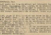Pokaż powiększenie powyżej: 1. Fragment meldunku Komendantury Policji Porządkowej w dystrykcie lubelskim z 15.10.1943 r. do Dowódcy Policji Porządkowej w Krakowie