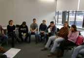Pokaż powiększenie powyżej: Młodzież z Bottrop poznaje historię obozu na Majdanku