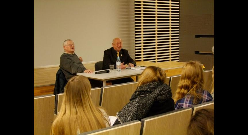 Powiększ obraz: Spotkanie ze Zdzisławem Badio - byłym więźniem Majdanka