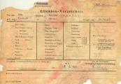 Pokaż powiększenie powyżej: Formularz Effekten-Verzeichnis obozu w Buchenwaldzie przywieziony do KL Lublin na początku 1944 r.