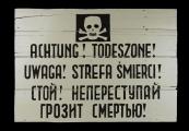 Pokaż powiększenie powyżej: Obozowa tablica ostrzegawcza