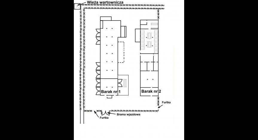 Plan baraków nr 1 i nr 2