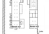 Pokaż powiększenie powyżej: Plan baraków nr 1 i nr 2