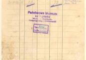 Pokaż powiększenie powyżej: 3. Kartoteka pieniężna żydowskiego więźnia z Wiednia, Aleksandra Buchsbauma