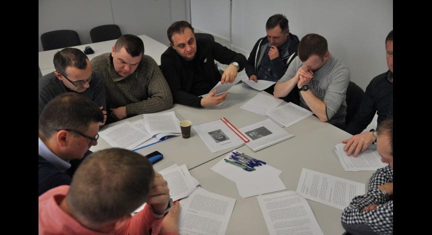 Powiększ obraz: Lubelscy policjanci biorą udział w seminarium historycznym