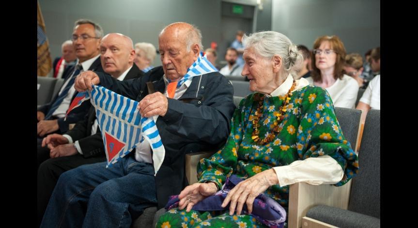 Powiększ obraz: Obchody 73. rocznicy likwidacji obozu na Majdanku