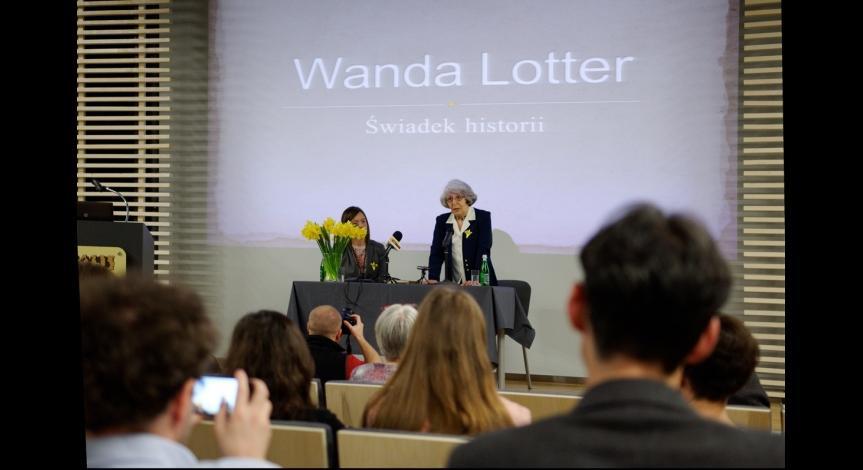 Powiększ obraz: Spotkanie z Wandą Lotter