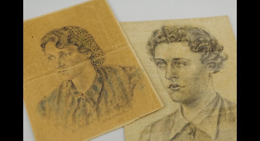 Powiększ obraz: Rysunki Jadwigi Fiedorowej znajdujące się w zbiorach Muzeum