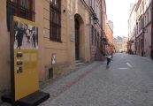 Pokaż powiększenie powyżej: Jedna z plansz na ulicy Grodzkiej