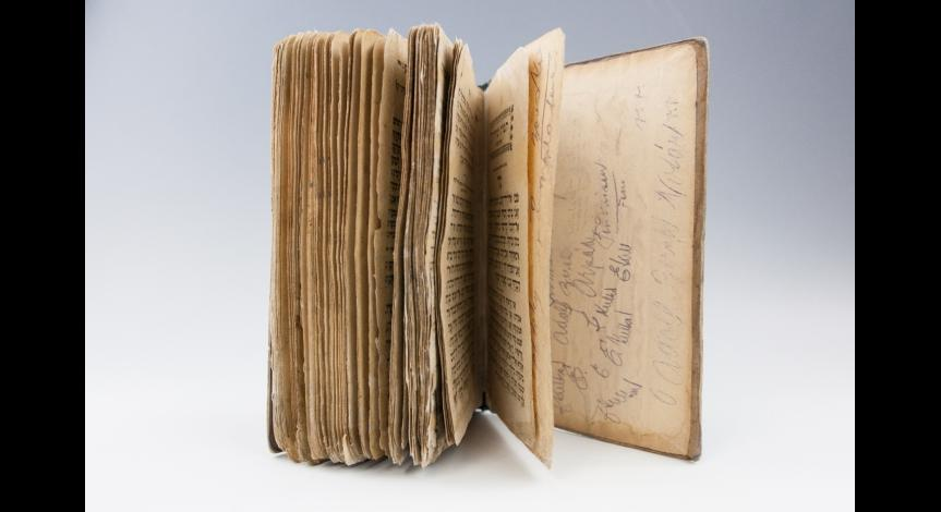 Zoom image: Prayer books from Majdanek