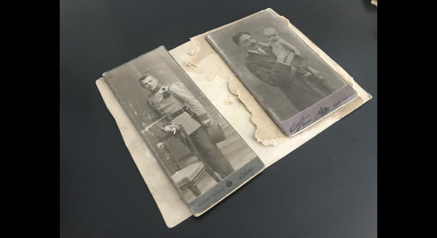 Zoom image: The photographs during the process of conservation