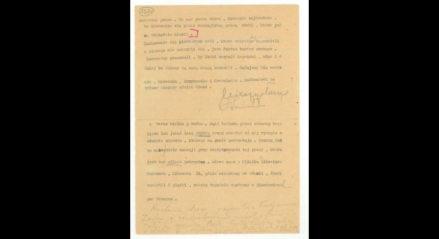 List do S. Malmowej napisany przez prof. Mieczysława Michałowicza w czerwcu 1945 r., cz. 2