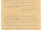 Pokaż powiększenie powyżej: List do S. Malmowej napisany przez prof. Mieczysława Michałowicza w czerwcu 1945 r., cz. 2