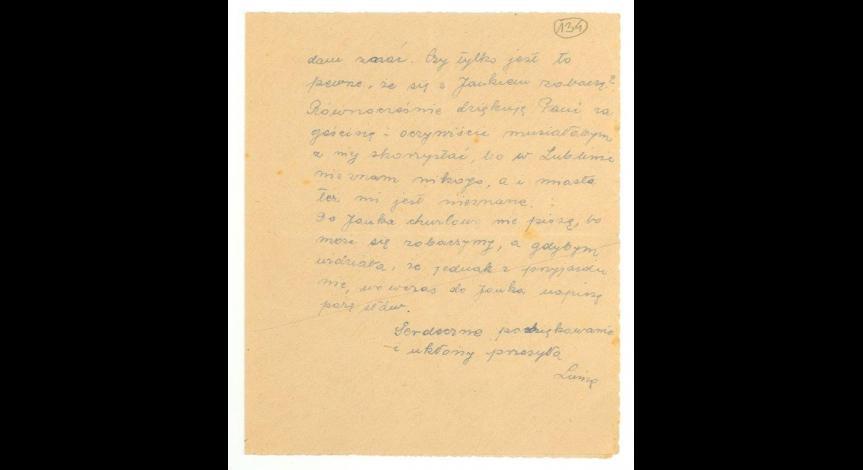 List od Heleny Pawłowskiej do Saturniny Malmowej wysłany przed przyjazdem Heleny do Lublina, cz. 2