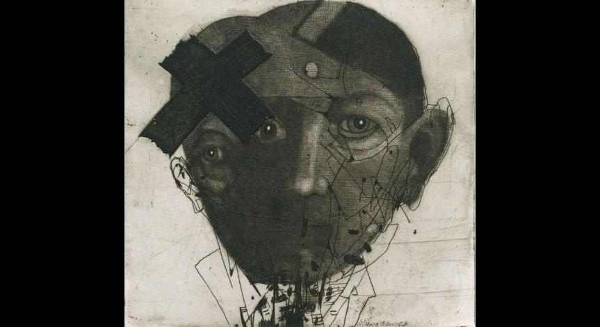 Powiększ obraz: Jacek Tybur, Moja mała Apokalipsa II, akwaforta,1990