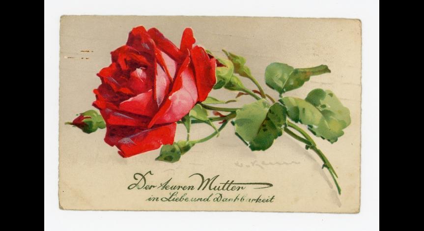 Fot. 17. Karta wysłana z okazji Dnia Matki do Emmy Kral przez Waltera Krala, 12 maja 1934 r.