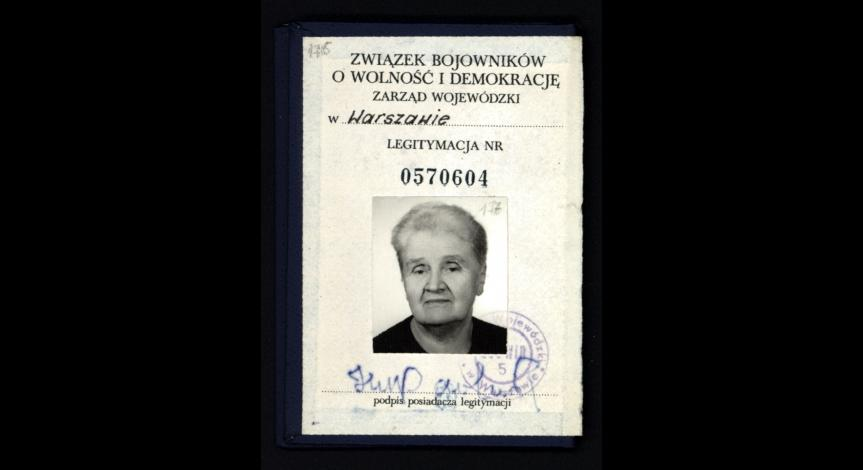 Powiększ obraz: Legitymacja przynależności do Związku Bojowników o Wolność i Demokracje
