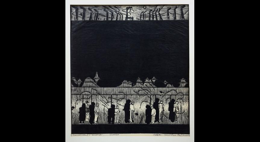 Powiększ obraz: Majdanek w twórczości Barbary i Stanisława Bałdygów. Wybrane grafiki ze zbiorów PMM (fot.1)