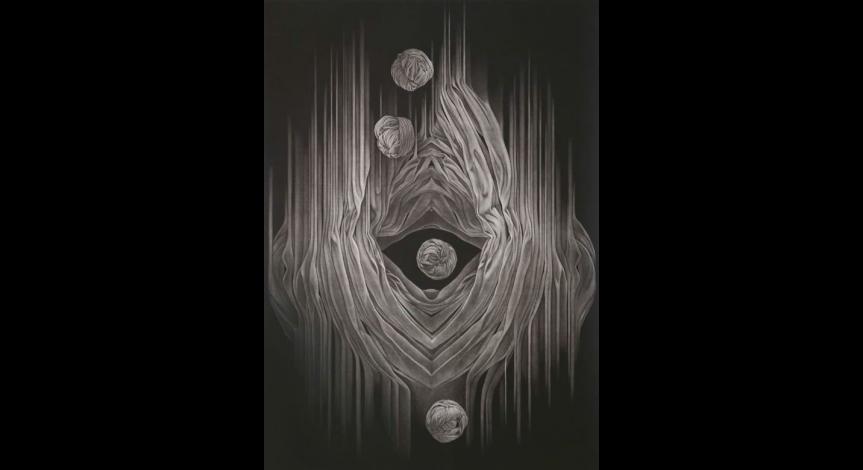 Powiększ obraz: Masataka Kuroyanagi, Form work 9, mezzotinta, 1999