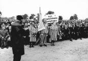 Pokaż powiększenie powyżej: Byli więźniowie Majdanka podczas odsłonięcia Pomnika Walki i Męczeństwa, 1969