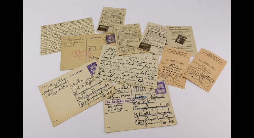Powiększ obraz: Oficjalna korespondencja prowadzona przez Stefanię Perzanowską podczas pobytu na Majdanku