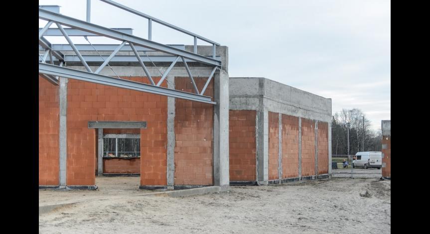 Powiększ obraz: Kolejny etap prac budowlanych w Sobiborze