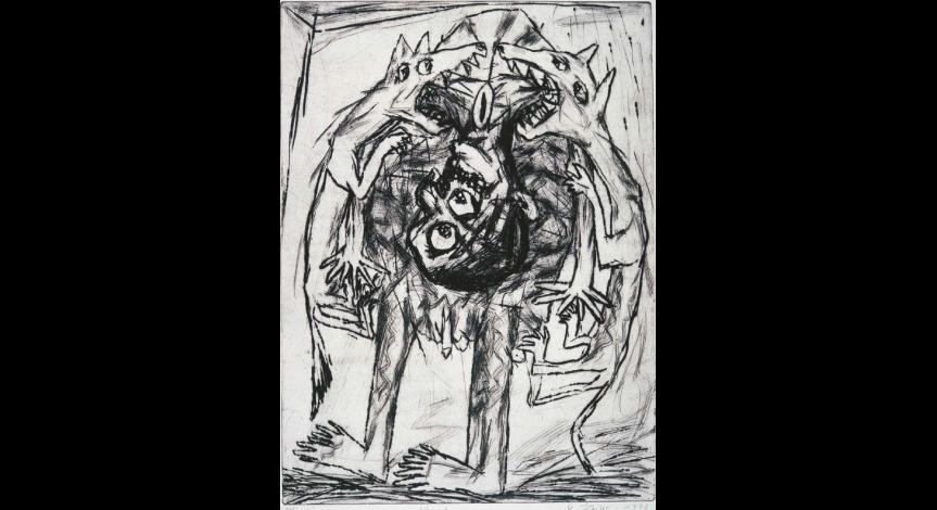 Powiększ obraz: Peter Zeiler, Krieg, sucha igła, 1992