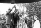 Show larger image above: Poświęcenie Dzwonu Pokoju, 9 września 1989