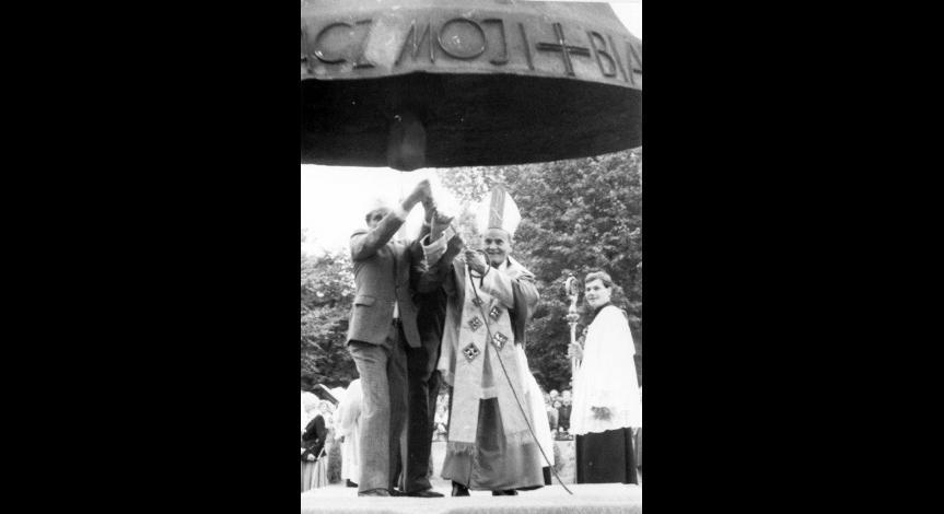 Zoom image: Poświęcenie Dzwonu Pokoju, 9 września 1989