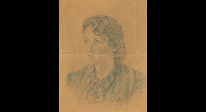 Powiększ obraz: Rysunek wykonany przez Jadwigę Fiedorową, przekazany do Muzeum