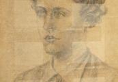 Pokaż powiększenie powyżej: Portret Ireny Szymańskiej wykonany prawdopodobnie w więzieniu we Lwowie w 1942 r.