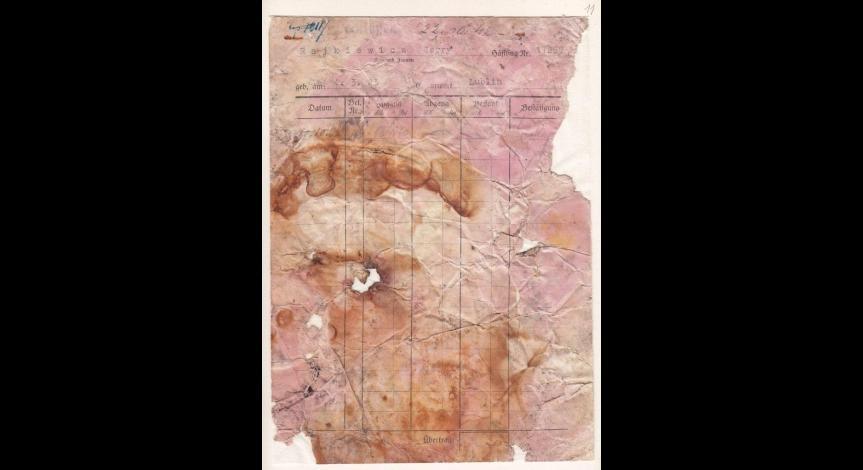 Powiększ obraz: 7. Kartoteka pieniężna więźnia polskiego Jerzego Rajkiewicza