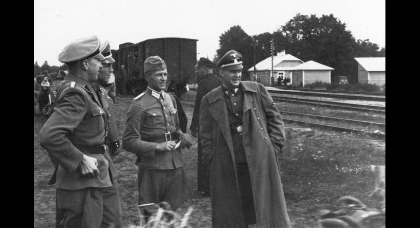 Zoom image: Sobibór railway station before the death camp became operational.