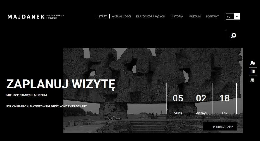 """Powiększ obraz: Stanowisko Państwowego Muzeum na Majdanku dotyczące programu """"Tu i teraz – widzę, słucham, pytam"""""""