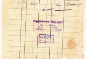 Pokaż powiększenie powyżej: 4. Kartoteka pieniężna żydowskiego więźnia Uszewa Strazmeistera