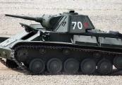 Pokaż powiększenie powyżej: Sowiecki czołg rozpoznawczy T-70
