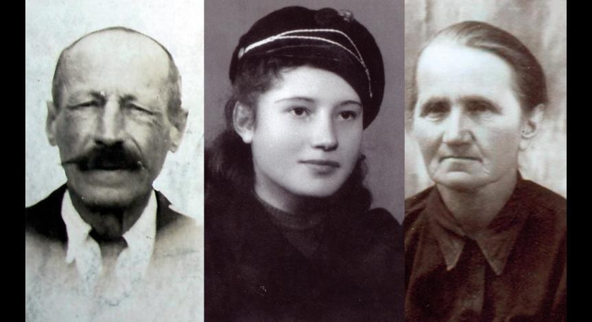 Urszula Tochman z rodzicami