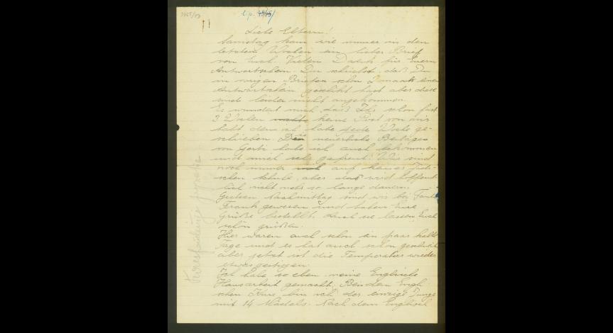 Fot. 9. List Waltera Krala do Emmy i Moritza z 17 listopada 1941 r.