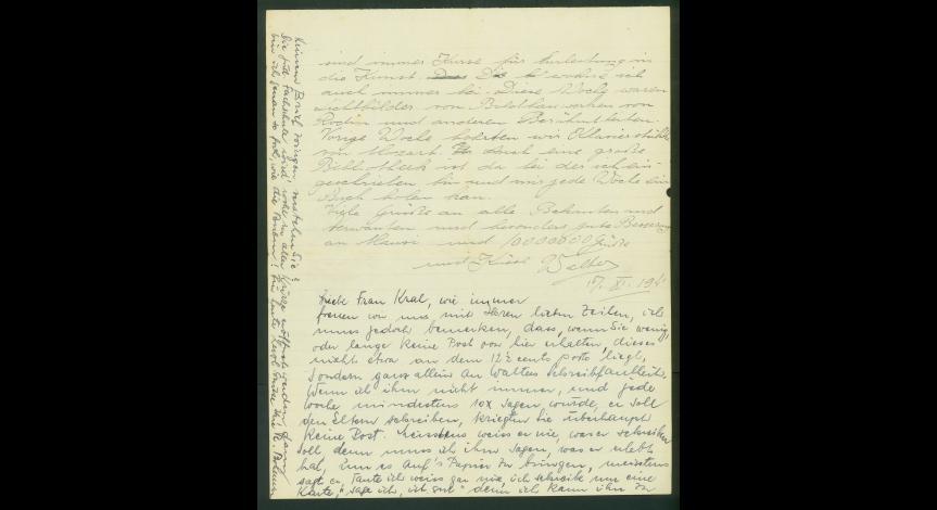 Fot.10. List Waltera Krala do Emmy i Moritza z 17 listopada 1941 r.