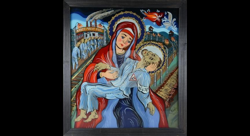 Powiększ obraz: Walczak Zdzisław, Pieta obozowa