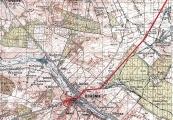 Pokaż powiększenie powyżej: Trasa transportu do Kraśnika i umiejscowienie cegielni Pludrów, gdzie  nocowali więźniowie