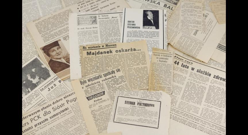 Powiększ obraz: Wycinki prasowe dotyczące działalności doktor Perzanowskiej