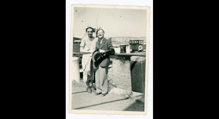 Fot. 6. Gertrud i Kurt Felsenburgowie, Amsterdam, czerwiec 1939 r.