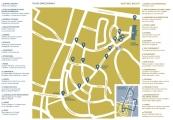 Pokaż powiększenie powyżej: Mapa zwiedzania wystawy Dzielnice zagłady
