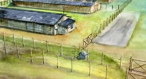 Sowiecki obóz filtracyjny NKWD na…